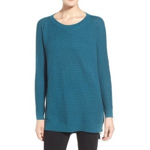 Trouve NWOT❗️Side Zip Tunic Ribbed Sweater